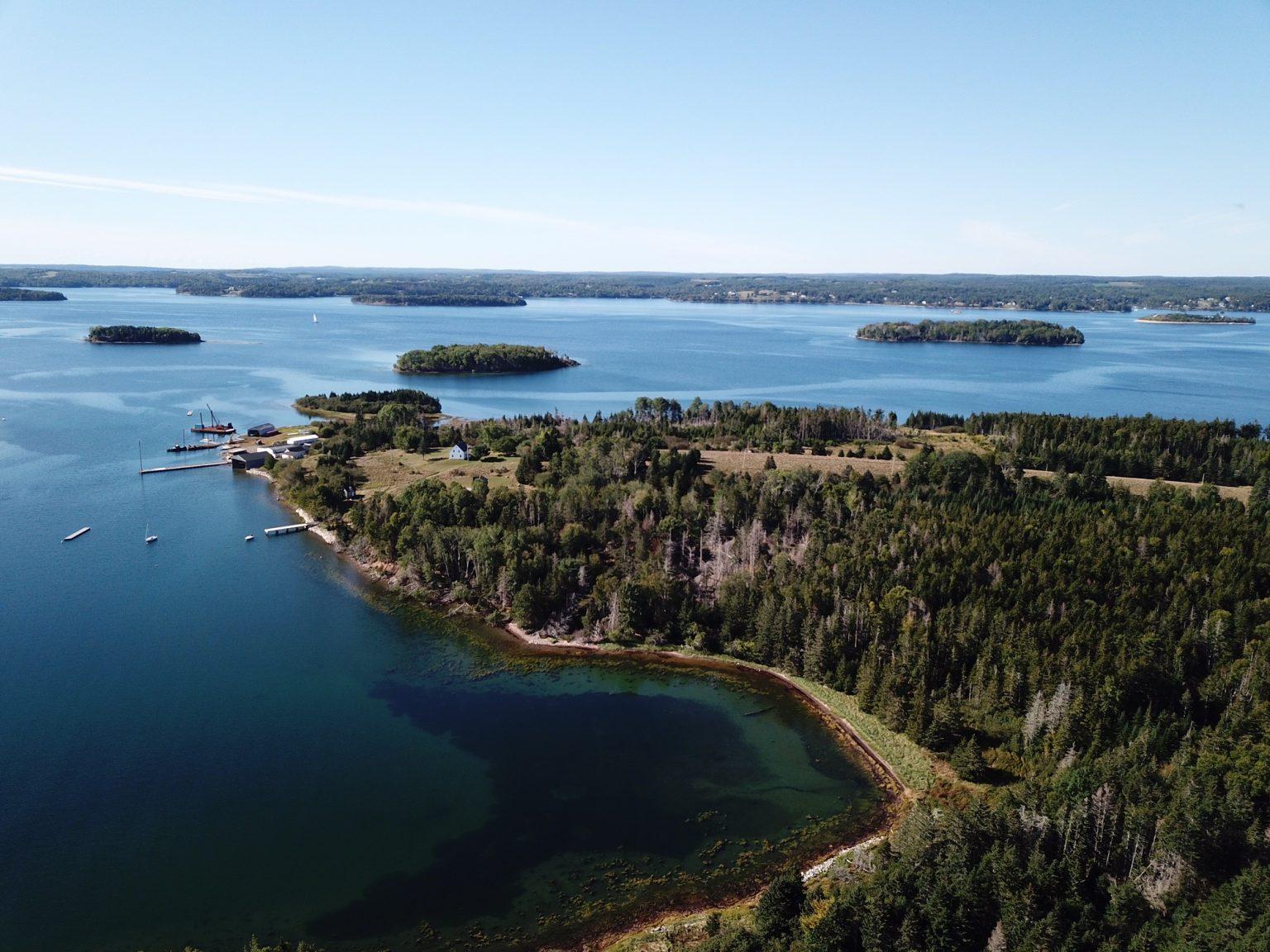 Sailing tours area, islands in Mahone Bay, Nova Scotia